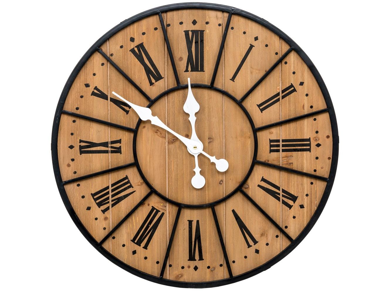 Настенные часы Де-ВилльНастенные часы<br>Дизайн вдохновлен парижским дворцом Отель Де-Вилль, фасад которого возвышают величественные башенные часы. Теперь их модернизированный, но по-прежнему романтичный имидж претендует возвысить и Ваши интерьеры. Особым уютом располагает сочетание мореного дерева с состаренным металлом. Этот прием с XVIII века покорил интерьеры европейских отелей и таверн. &amp;lt;div&amp;gt;&amp;lt;br&amp;gt;Кварцевый механизм.&amp;lt;/div&amp;gt;<br><br>Material: Дерево<br>Глубина см: 3.5