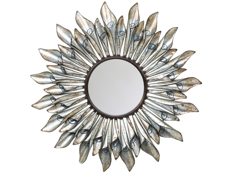 Настенное зеркало ЛозаннаНастенные зеркала<br>Двухъярусный каскад цветочных лепестков награждает зеркало &amp;quot;Лозанна&amp;quot; пышным объемом и лучезарными эмоциями. Рама зеркала из металлических свитков напоминает цветок. &amp;quot;Лозанна&amp;quot; - образец декоративного интерьерного зеркала. Для одних это зеркало, вознесенное великолепной оправой, для других - великолепное панно, снабженное зеркалом. Зеркало покрыто серебряной амальгамой, долговечно и неприхотливо в уходе.<br><br>Material: Металл<br>Ширина см: 89.0<br>Высота см: 89.0<br>Глубина см: 5.0