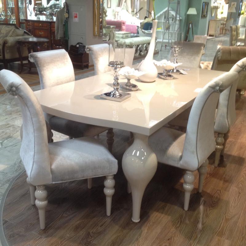 Обеденный стол PalermoОбеденные столы<br>Обеденный стол выполнен в современном стиле.&amp;amp;nbsp;&amp;lt;div&amp;gt;Отделка отделка бежево-серый глянцевый лак Khaki.&amp;amp;nbsp;&amp;lt;/div&amp;gt;&amp;lt;div&amp;gt;Столешница прямоугольной формы опирается на высокие фигурные ножки.&amp;amp;nbsp;&amp;lt;div&amp;gt;&amp;lt;br&amp;gt;&amp;lt;/div&amp;gt;&amp;lt;div&amp;gt;Сделан из высококачественного МДФ высокой плотности и массива дерева.&amp;amp;nbsp;&amp;lt;/div&amp;gt;&amp;lt;div&amp;gt;Ножки из массива гевеи и полимерной смолы.&amp;lt;/div&amp;gt;&amp;lt;/div&amp;gt;<br><br>Material: Дерево<br>Ширина см: 220<br>Высота см: 75<br>Глубина см: 110