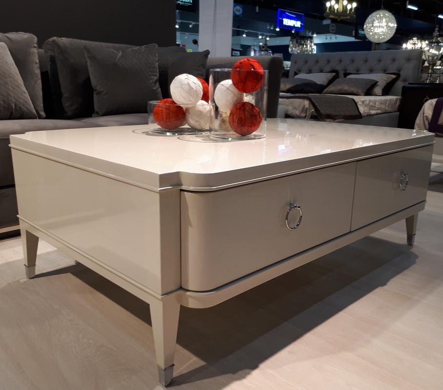Журнальный стол modena (fratelli barri) белый 125x45x85 см.