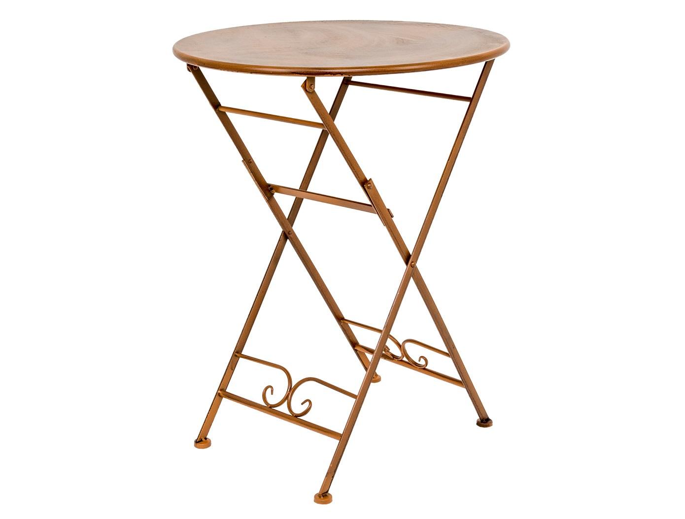 Складной столик для завтрака «Жарден»Столы и столики для сада<br>Скромный вес и складная конструкция столика «Жарден» позволяют легко перемещать его в нужное место. Конструкция максимально комфортабельна: столик складывается единым легким движением, в сложенном виде он компактен для хранения и легок для перемещений.&amp;amp;nbsp;&amp;lt;div&amp;gt;Металлическая мебель неприхотлива в уходе, прочна и долговечна. Она не боится царапин и трещин, не рассыхается. &amp;lt;/div&amp;gt;<br><br>Material: Металл<br>Высота см: 74.0