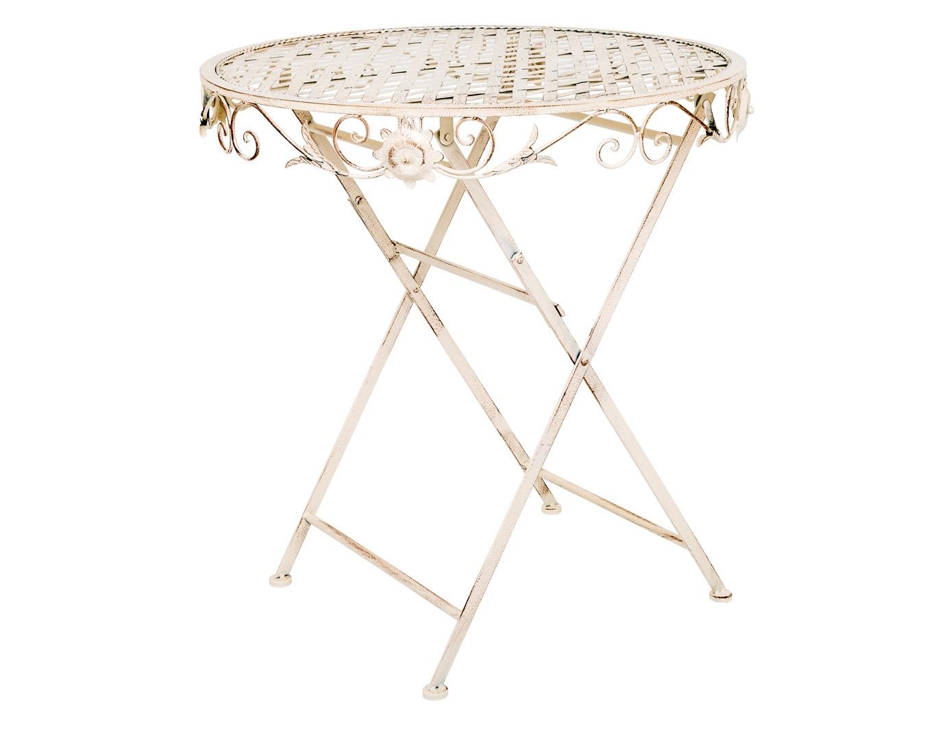 Складной столик для завтрака «Ницца»Столы и столики для сада<br>Складной столик Ницца - солнечная погода в любое время года. Благодаря долговечному и неприхотливому материалу столик сможет долгие годы радовать вас своим удобством. Небольшой вес и складная конструкция позволяют легко перемещать его в нужное место. Гальваническое покрытие защищает столик от коррозии. Вы можете смело использовать его на открытом воздухе при любой погоде.&amp;nbsp;Белый цвет подчеркивает имидж безупречной чистоты дома.<br><br><br><br>kit: None<br>gender: None