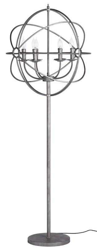 Напольный светильник Foucaults OrbТоршеры<br>Напольный светильник из хромированной стали с оригинальным торшером из металических прутьев и шести ламп-свечей. Современное прочтение средневекового дизайна по праву станет хорошим дополнением в современной квартире или доме.&amp;amp;nbsp;&amp;lt;div&amp;gt;&amp;lt;br&amp;gt;&amp;lt;/div&amp;gt;&amp;lt;div&amp;gt;&amp;lt;div&amp;gt;Вид цоколя: E14&amp;lt;/div&amp;gt;&amp;lt;div&amp;gt;Мощность: &amp;amp;nbsp;40W&amp;amp;nbsp;&amp;lt;/div&amp;gt;&amp;lt;div&amp;gt;Количество ламп: 6 (нет в комплекте)&amp;lt;/div&amp;gt;&amp;lt;/div&amp;gt;<br><br>Material: Сталь<br>Width см: 60<br>Height см: 166