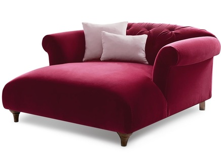 Кушетка diva (myfurnish) красный 125.0x69x145 см.