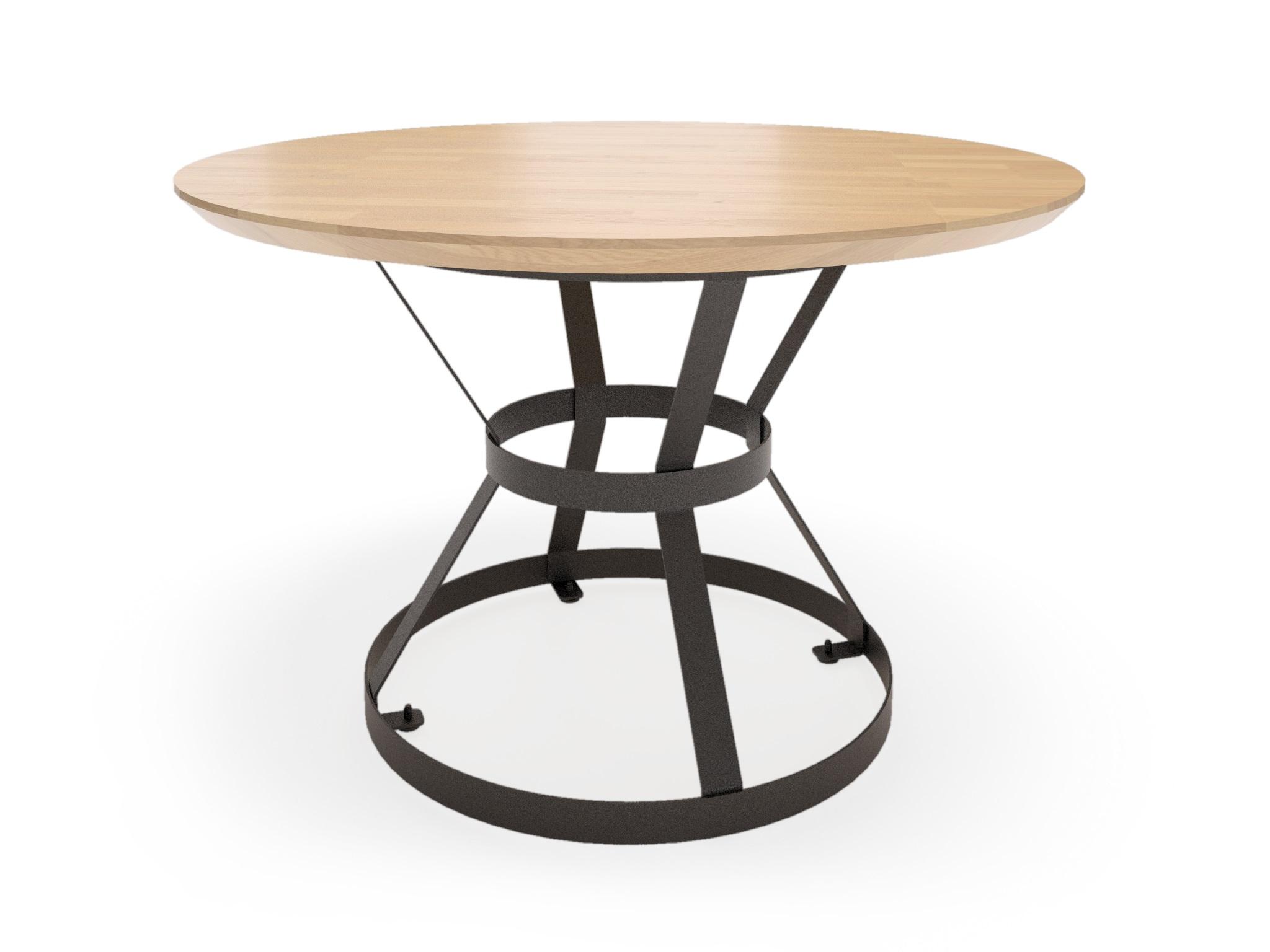 Стол ЛофтОбеденные столы<br>Современный минималистичный дизайн, выполненная из массива дуба столешница и основание из стали делают стол уникальным.Изготавливается из натурального массива дуба. Покрывается маслами лучших мировых производителей.  Возможные цвета и размеры уточняйте у менеджера.