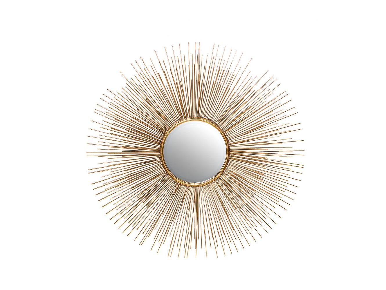 Зеркало СолнцеНастенные зеркала<br>Центральное зеркало диаметром 20 см<br><br>Material: Металл