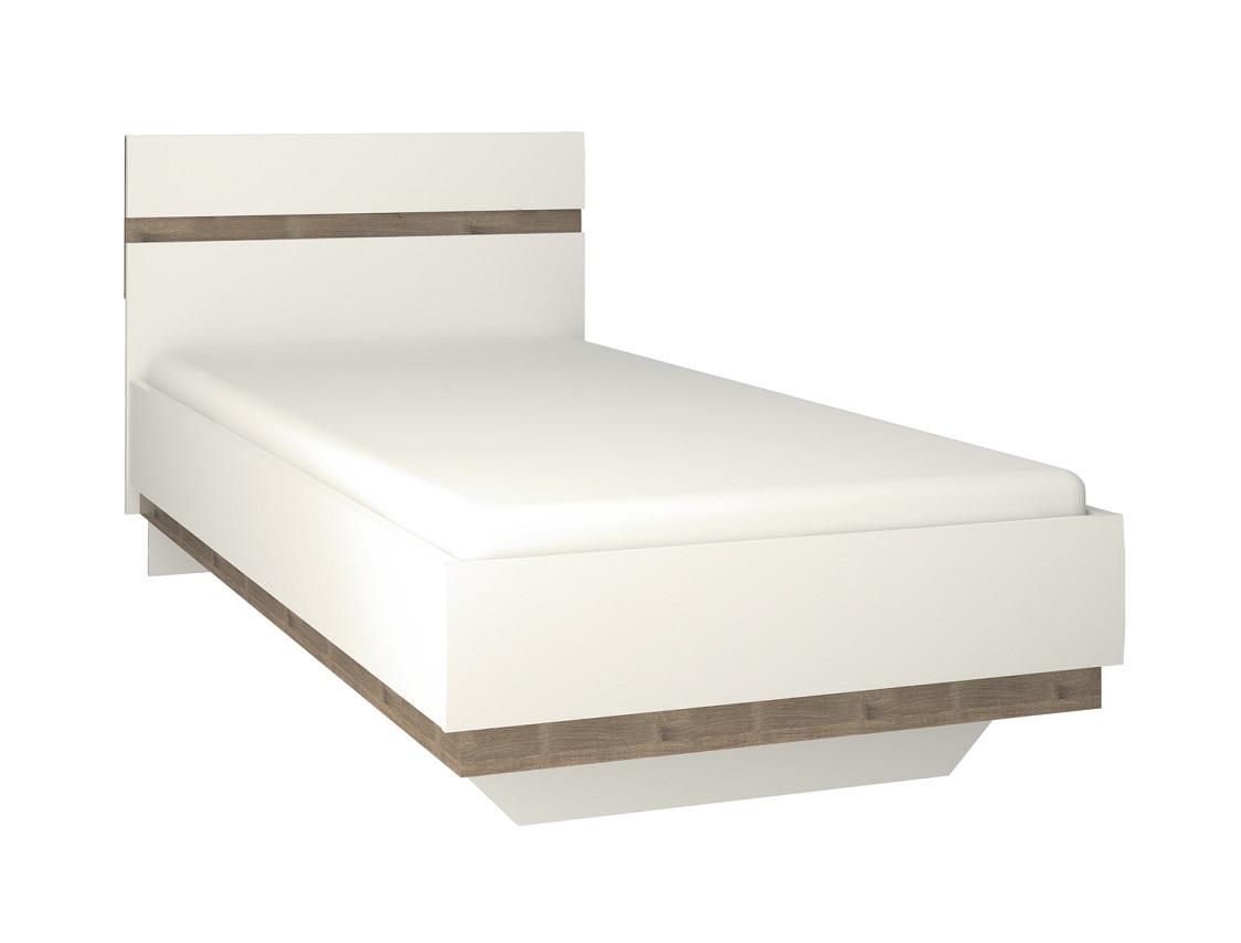 Кровать LinateДеревянные кровати<br>&amp;lt;div&amp;gt;Нетрадиционный дизайн коллекции LINATE - это отличный вариант для тех, кто всегда следует новым веяниям моды. Белый глянцевый фасад, оригинальное исполнение ручек, направляющие скрытого монтажа с доводчиками, а также необычный дизайн всей коллекции подчеркнет индивидуальность владельца и его стремление к оригинальности и новизне.&amp;lt;div&amp;gt;&amp;lt;br&amp;gt;&amp;lt;/div&amp;gt;&amp;lt;div&amp;gt;Материал: ЛДСП, МДФ&amp;lt;br&amp;gt;&amp;lt;/div&amp;gt;&amp;lt;div&amp;gt;Размер спального места: 90х200&amp;lt;/div&amp;gt;&amp;lt;/div&amp;gt;<br><br>Material: ДСП<br>Ширина см: 95<br>Высота см: 86<br>Глубина см: 206