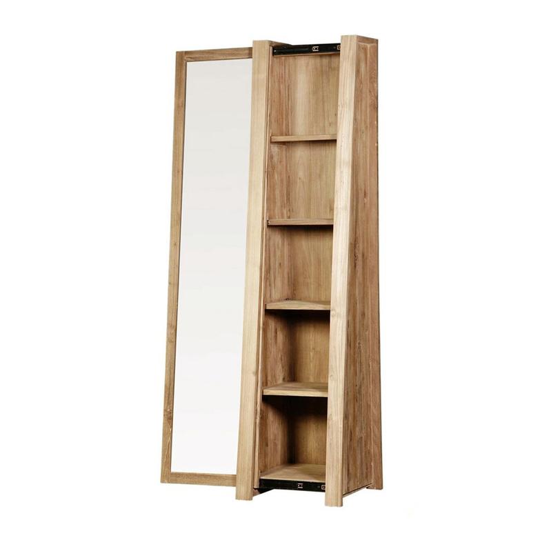Шкаф - витрина TrapesummВитрины<br>Узкий витринный шкаф из массива тика. Сужающийся кверху дизайн создает дополнительное пространство, раздвижная дверь, возможен правый и левый вариант.<br><br>Material: Тик<br>Length см: None<br>Width см: 54.0<br>Depth см: 55.0<br>Height см: 220.0<br>Diameter см: None