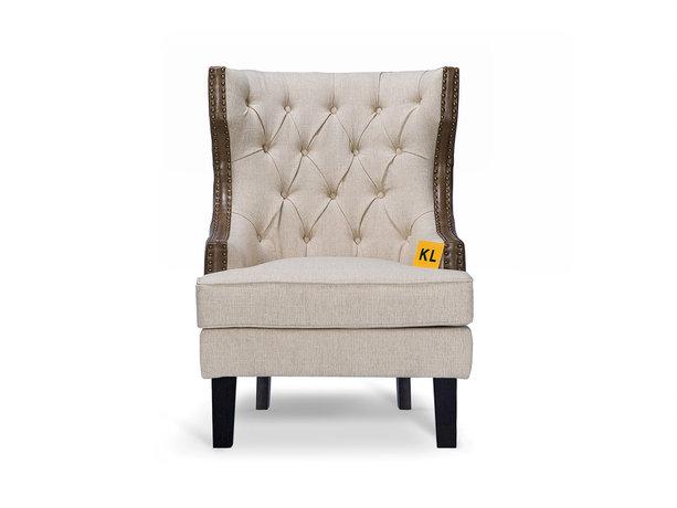 Кресло CantinaИнтерьерные кресла<br>Стильное кресло &amp;quot;Cantina&amp;quot; в американском стиле, спинка выполнена с применением стяжки «капитоне». Отлично впишется как в классический, так и в современный интерьер.<br><br>Material: Текстиль<br>Ширина см: 78.0<br>Высота см: 107.0<br>Глубина см: 87.0