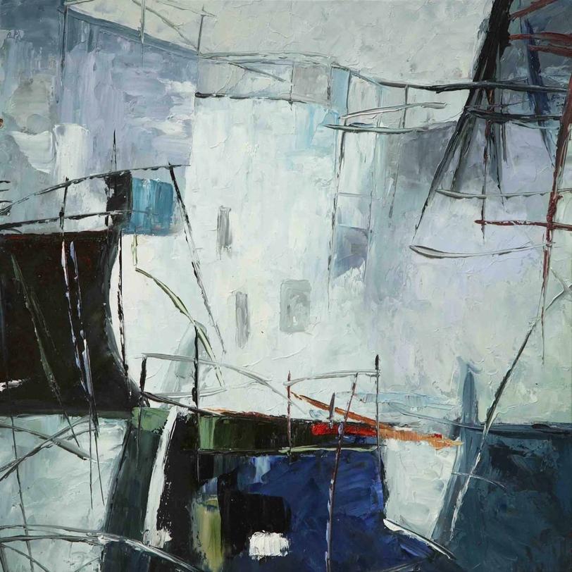 КартинаКартины<br>Картина на квадратном холсте в холодных оттенках синего и серого цветов. Абстрактное изображение подойдет интерьерам в стиле лофт и минимализм.<br><br>Material: Холст<br>Ширина см: 60<br>Высота см: 60