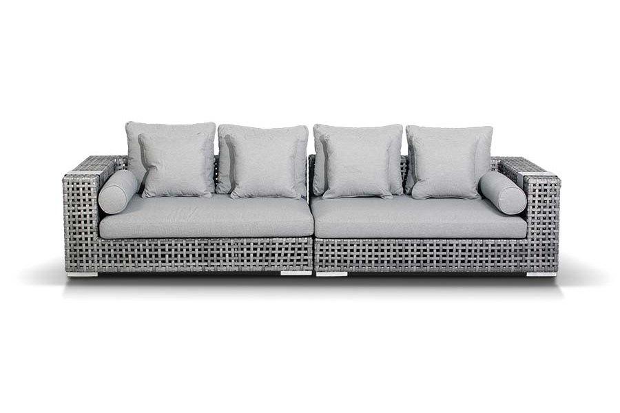 Диван КантиДиваны и оттоманки для сада<br>Модульный диван Канти из искусственного ротанга: 1 правый модуль, 1 левый модуль. Алюминиевый каркас, искусственный ротанг, плоское плетение.&amp;amp;nbsp;&amp;lt;div&amp;gt;Модули оснащены подушками со съемными чехлами серого цвета.&amp;amp;nbsp;&amp;lt;/div&amp;gt;&amp;lt;div&amp;gt;&amp;lt;br&amp;gt;&amp;lt;/div&amp;gt;&amp;lt;div&amp;gt;Размер каждого модуля: 153х121х61&amp;lt;/div&amp;gt;<br><br>Material: Искусственный ротанг