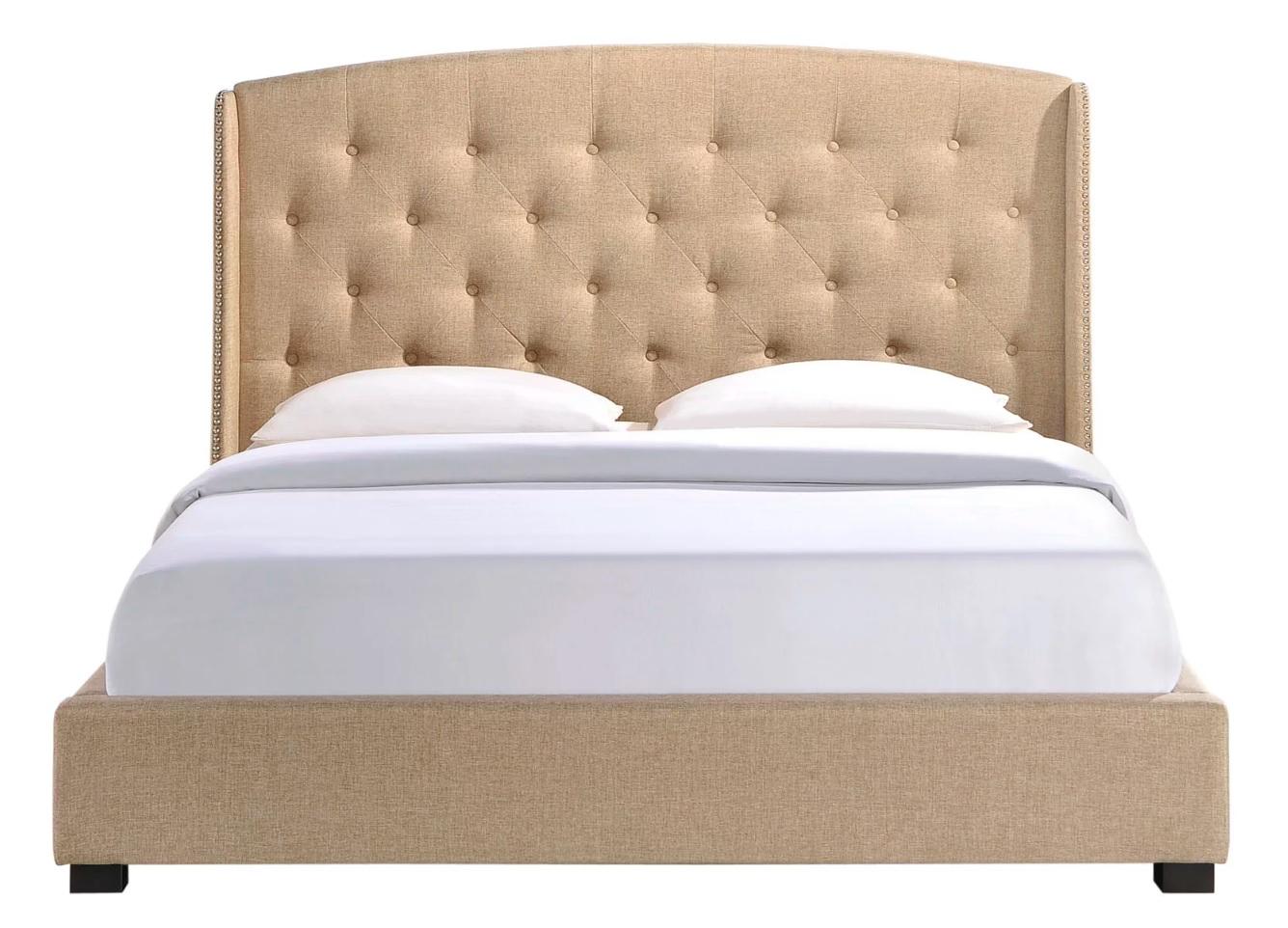 Кровать lexlux (ml) бежевый 163.0x137.0x212.0 см. фото