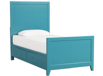 Кровать bayside (myfurnish) голубой 100x142x200 см.