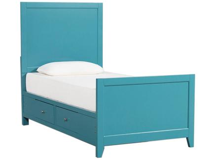 Кровать bayside (myfurnish) бирюзовый 100x142x200 см.