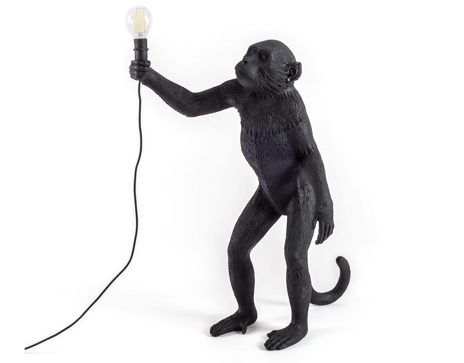 Настольная лампа The Monkey Lamp Black StandingДекоративные лампы<br>Вид цоколя: E14Мощность: 4WКоличество ламп: 1 (нет в комплекте)<br><br>kit: None<br>gender: None