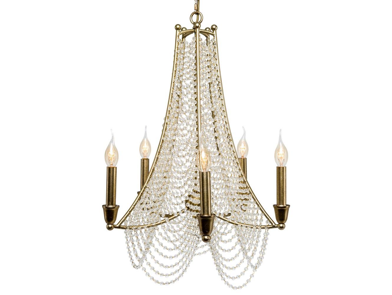 Люстра веддинг (5 ламп) (object desire) золотой 75.0 см. фото