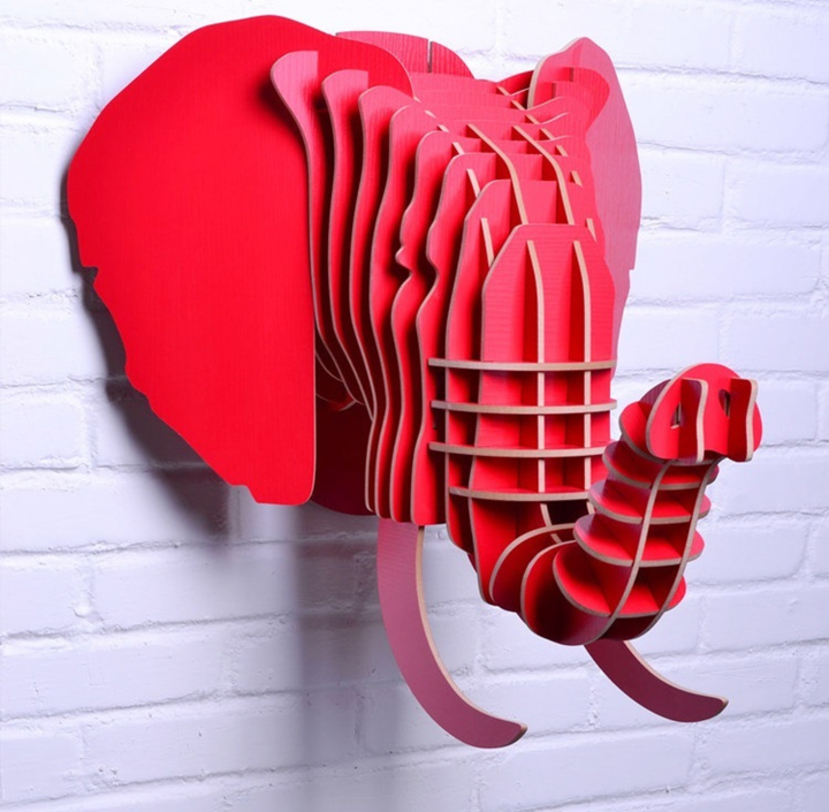 Настенный декор СлонФигуры<br>Декоративные головы животных на стену выполнены в скандинавском стиле, сочетают в себе естественную простоту и изысканность. Экологически безопасные, сделанные вручную, такие элементы декора смотрятся всегда необычно, и в тоже время очень стильно! Очень много разных цветов и вариантов покраски дают разгуляться воображению.<br><br>Material: МДФ<br>Length см: None<br>Width см: 37.7<br>Depth см: 42.6<br>Height см: 31.1<br>Diameter см: None