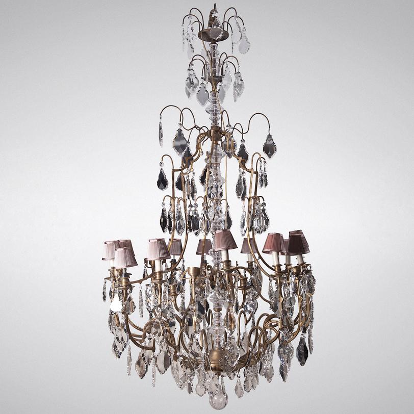 Люстра NapoleonЛюстры подвесные<br>Роскошная люстра для роскошных залов. Великолепная люстра Napoleon, несомненно, достойная украсить лучшие помещения как в частных владениях - в загородных домах, так и в публичных - фешенебельных отелях, ресторанах, музеях. Люстра щедро украшена множеством хрустальных подвесок, сверкающих в свете свечей, убранных в плиссированные юбочки. Благодаря более, чем двухметровой высоте, люстра станет отличным дополнением в пространствах с высоким потолком или двухъярусных помещениях.<br><br>Material: Металл<br>Width см: 125<br>Height см: 205