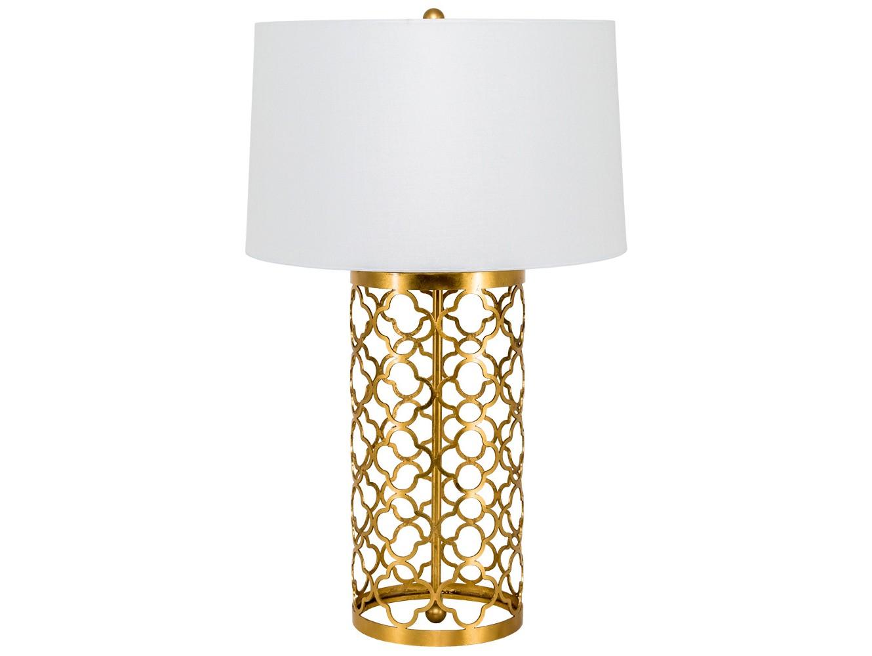 Настольная лампа РонаДекоративные лампы<br>Размер, дизайн и сдержанный золотистый цвет лампы Рона оптимальны для любых помещений: спальни, кабинета, гостиной, столовой, холла, для городских квартир и загородных домов. Равномерное распространение света внутри круглого абажура озаряет его поверхность, мягкий ореол света приятно тонирует пространство. Орнамент в резном основании, натуральный материал – ткань и металл -, сдержанные натуральные оттенки составляют то самое очарование, которым славится французский стиль.&amp;nbsp;Тип цоколя: Е27.&amp;nbsp;Количество ламп: 1 (в комплект не входит).Материал: основание - металл, абажур - лен / полиэстер<br><br>kit: None<br>gender: None