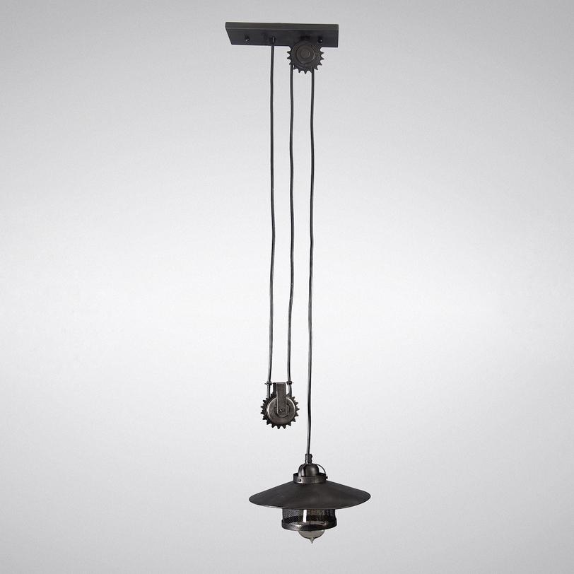 Подвесной светильник 24955-HLПодвесные светильники<br>Светильник со шнуром на блоке – образец индустриального стиля. Отлично впишется в лофты и общественные пространства.<br><br>Material: Металл<br>Height см: 96.5<br>Diameter см: 25.0