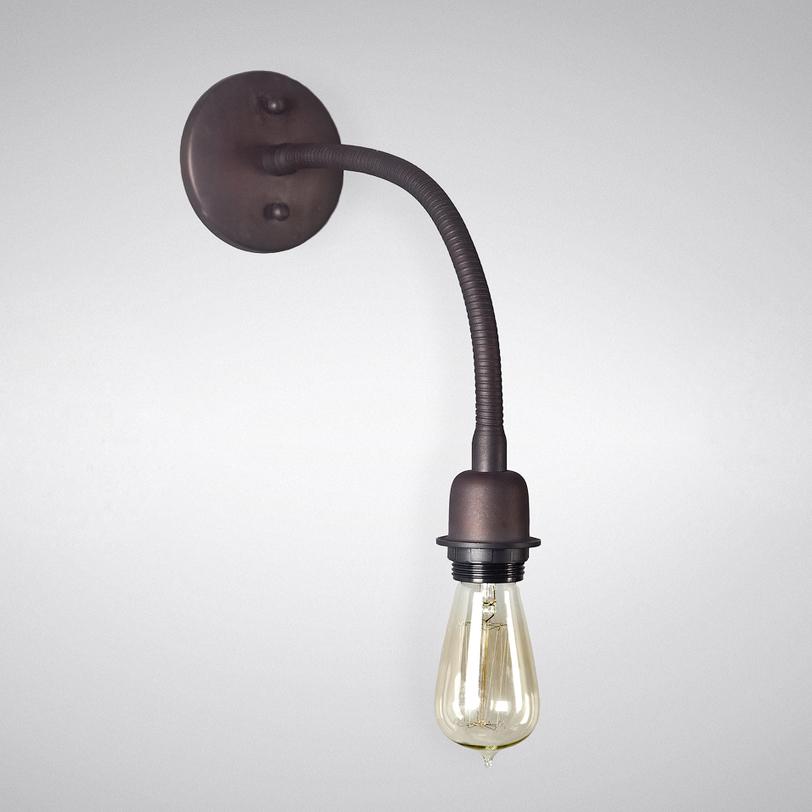 БраБра<br>Сдержанное и лаконичное бра в стиле винтаж поможет осветить рабочий кабинет, гостиную и даже ванную комнату.<br><br>Material: Металл<br>Height см: 43.0<br>Diameter см: 11.0