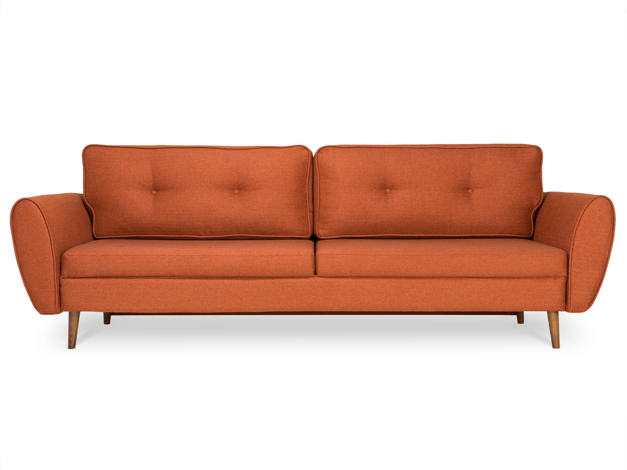 Myfurnish раскладной диван vogue оранжевый  83863/17
