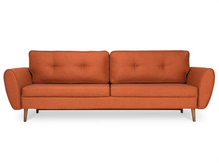 Раскладной диван vogue (myfurnish) оранжевый 243x75x102 см.