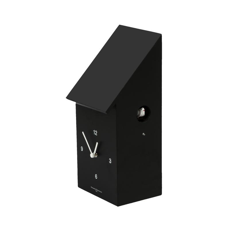Настенные часы HALF TIMEНастенные часы<br>Отличная модель для ценителей тонкого юмора: кто сказал, что часы не могут быть похожи на разрезанный пополам скворечник, а кукушка не может выскакивать в нужный момент из-за угла? Самое время удивиться и взглянуть на привычные вещи с другой стороны!<br><br>Материал: лакированный орех<br>Цвет: черная рамка; белый циферблат; белая птичка.<br><br>Material: Дерево<br>Length см: None<br>Width см: 18<br>Depth см: 14<br>Height см: 35<br>Diameter см: None