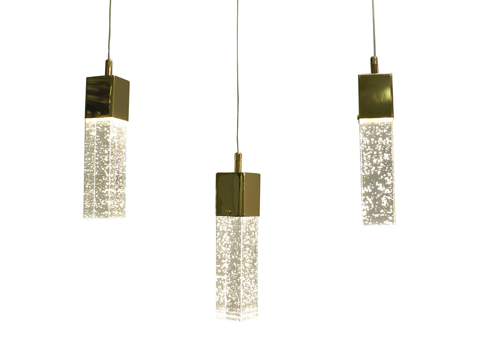 Подвес АкваПодвесные светильники<br>Тип цоколя: LEDМощность: 5W (3000K)Кол-во ламп: 3 (в комплекте)Материал: металл, стекло<br><br>kit: None<br>gender: None