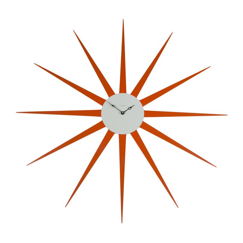 Настенные часы STARНастенные часы<br>Нашу звезду видно издалека! Благо размер позволяет (диаметр 90 см!) и призывно зовут выкрашенные в ярко красный лак металлические лучи.<br><br>Material: Металл<br>Length см: None<br>Width см: None<br>Depth см: 3<br>Height см: None<br>Diameter см: 90
