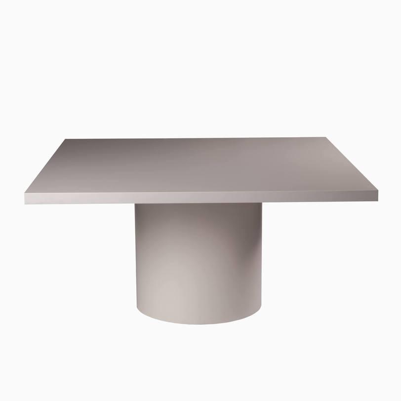 Стол GongОбеденные столы<br>Обеденный стол необычного дизайна смотрится очень стильно. Лаконичный, с квадратной столешницей и оригинальной пьедестальной опорой, он впишется практически в любой современный интерьер – и во многом благодаря красивому тёмному оттенку дерева, покрытого матовым лаком.<br><br>Отделка: лак.<br><br>Material: Дерево<br>Length см: None<br>Width см: 150<br>Depth см: 150<br>Height см: 75