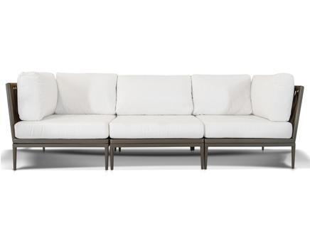 Трехместный диван касабланка (outdoor) бежевый