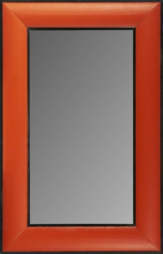 ЗеркалоНастенные зеркала<br>Стильное зеркало правильной прямоугольной формы из дерева с отделкой из натуральной кожи прекрасно подойдет для прихожей зоны. Насыщенный рыжий оттенок в тонкой черной рамке смотрится строго и со вкусом.<br><br>Отделка: дерево; кожа; зеркало<br><br>Material: Дерево<br>Length см: None<br>Width см: 90<br>Depth см: 5<br>Height см: 140