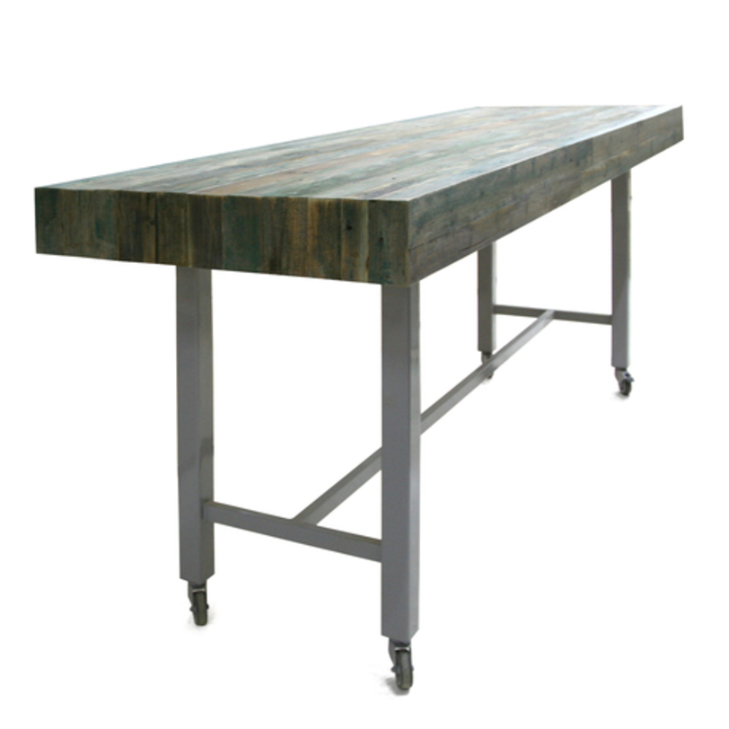 Консольный стол BrodsliyИнтерьерные консоли<br>Консоль в стиле лофт с тяжелой столешницей из оригинального фактурного дерева цвета хамелеон. Нижняя подставка из металла подчеркивает красоту дерева, а благодаря маленьким колесикам вы с легкостью сможете обновлять интерьер перестановкой.<br><br>Возможная высота стола:<br>750 мм<br>900 мм<br>1000 мм<br>1100 мм<br>1200 мм<br>Срок изготовления: 4-5 недель.<br><br>Material: Дерево<br>Length см: None<br>Width см: 240<br>Depth см: 60<br>Height см: 90<br>Diameter см: None