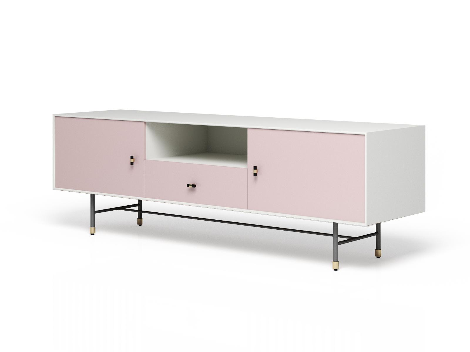 Тумба под тв eastwood (myfurnish) розовый 170x55x45.5 см. фото