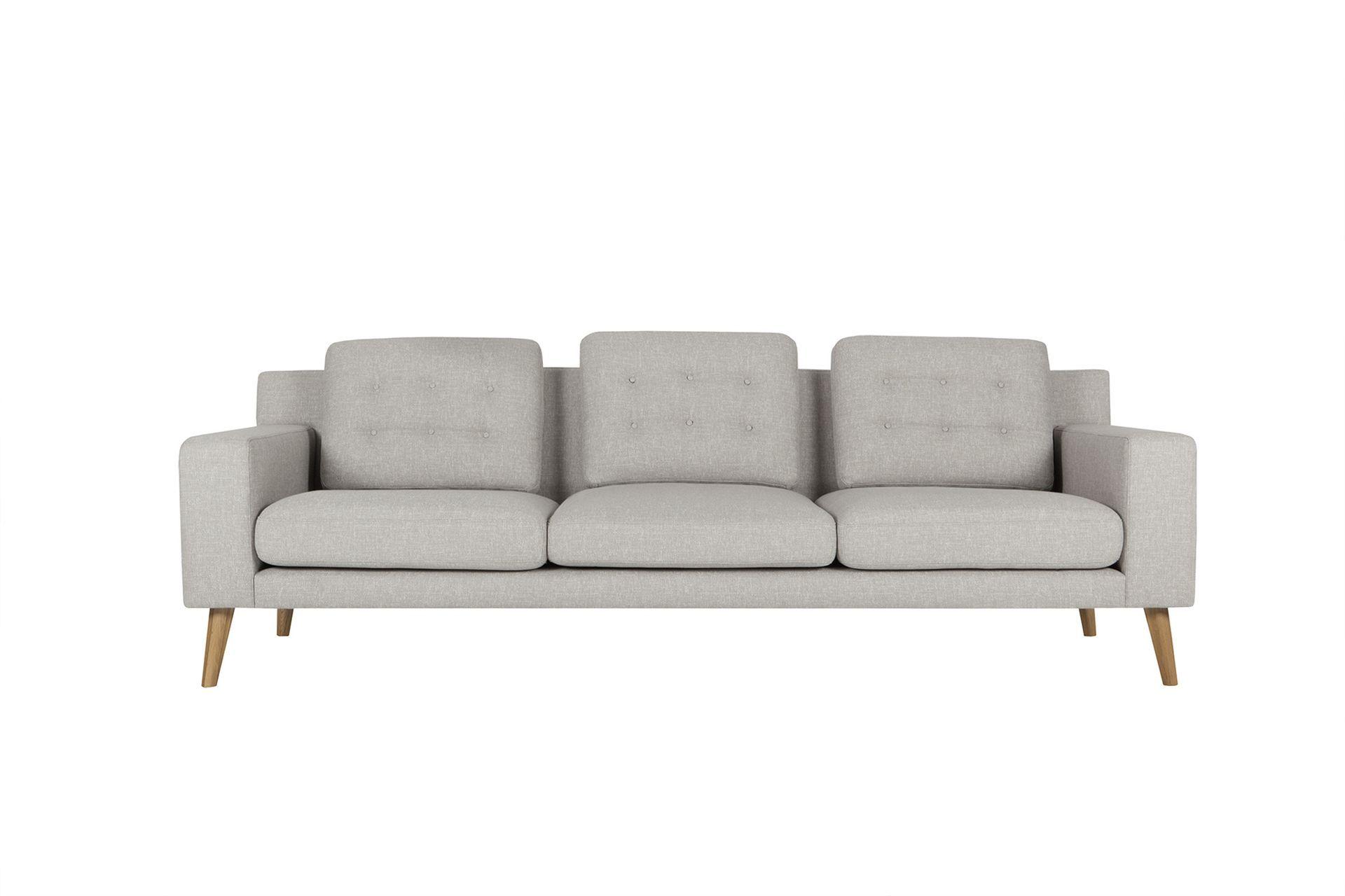 Диван axel (sits) серый 246x83x93 см.