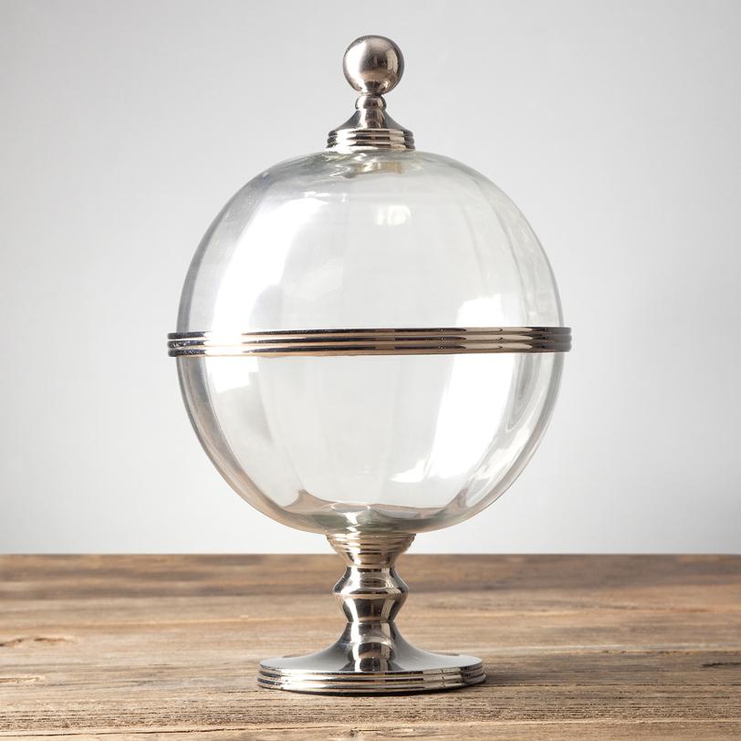 Чаша с крышкойЕмкости для хранения<br>Материал: стекло, металл<br><br>Material: Стекло<br>Height см: 33<br>Diameter см: 20