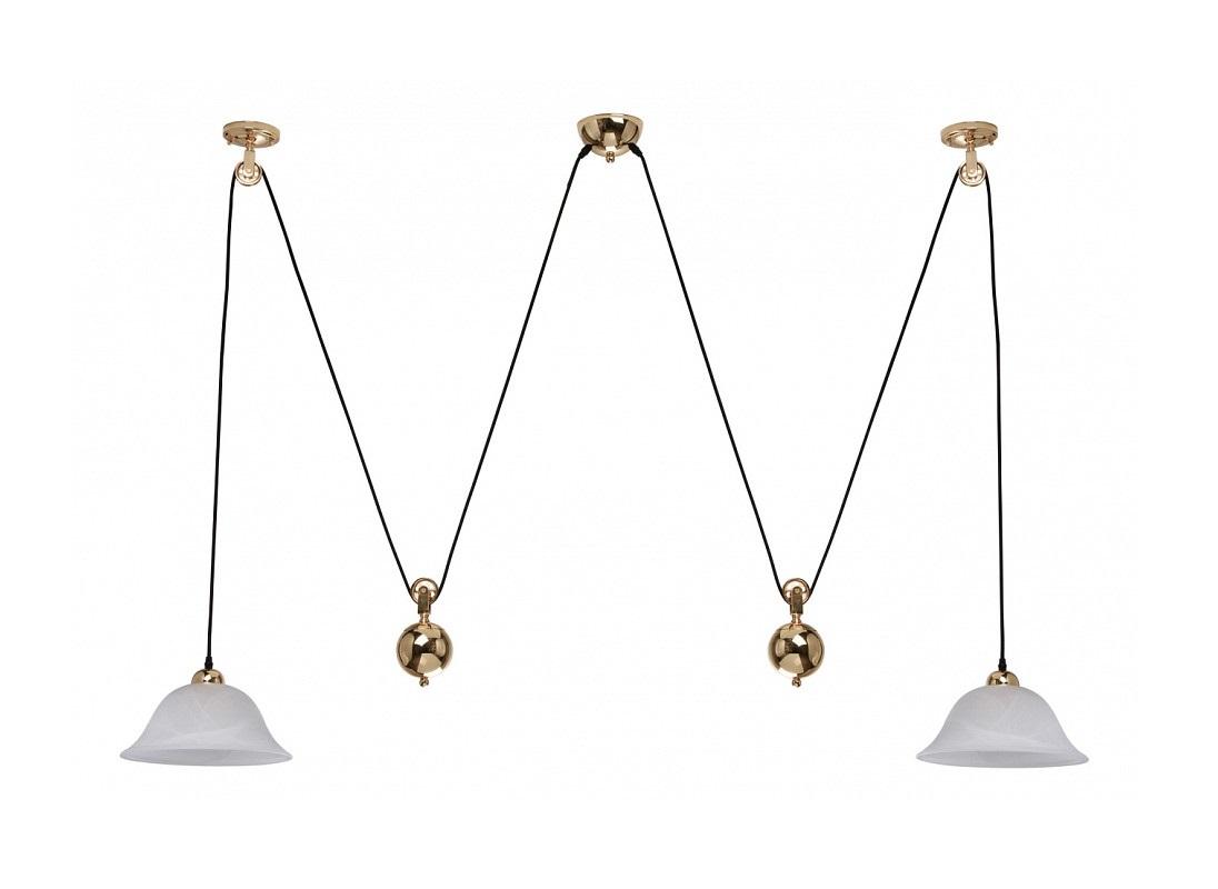 Подвесной светильник НикаПодвесные светильники<br>Цоколь: E27Мощность: 60WОбщее кол-во ламп: 2 (нет в комплекте)<br>Материал: стекло, металл<br><br>kit: None<br>gender: None
