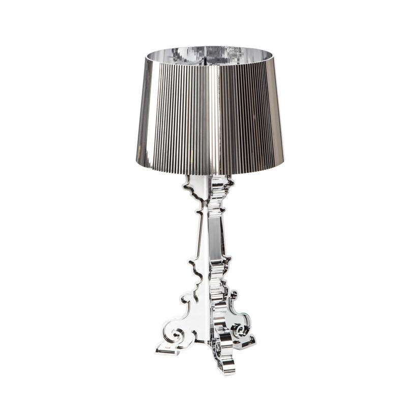 Лампа настольная BourgieДекоративные лампы<br>В 2014 знаменитая лампа «Bourgie» празднует десятилетний юбилей! За прошедшее десятилетие она успела вписаться в самые модные интерьеры земного шара и прослыть самой знаковой лампой 21-го века. Дизайнер – известнейший итальянец Ферручио Лавиани. Форма – как в эпоху барокко, а материал – цветной поликарбонат. Контраст между формой и материалом сделал Bourgie остромодной вещью.<br><br>Material: Пластик<br>Length см: None<br>Width см: 37<br>Depth см: 37<br>Height см: 68
