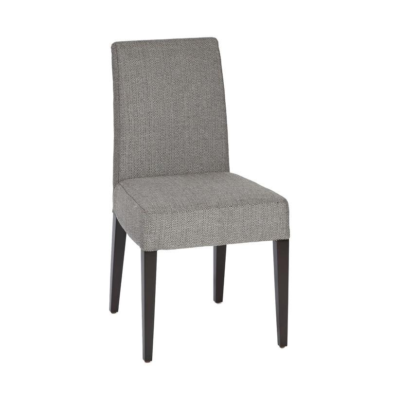 Стул AylsoОбеденные стулья<br>Удобный мягкий стул, спинка и сиденье которого полностью обиды серым текстилем, стилизованным под шерсть, а ножки окрашены в черный цвет.<br><br>Material: Текстиль