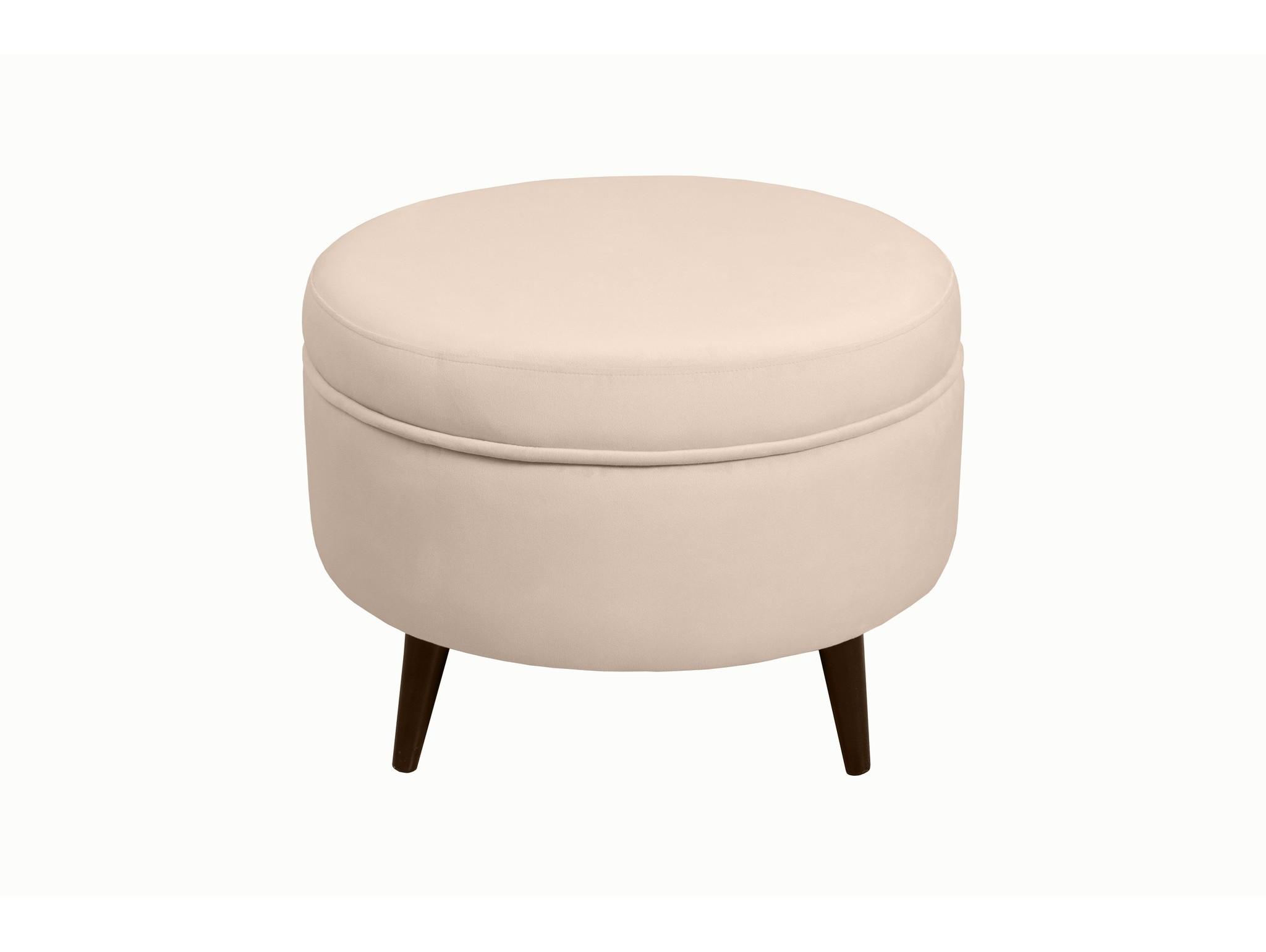 Каркасный пуфик SwedeФорменные пуфы<br>Очень устойчивый пуф   на деревянной основе станет незаменимым предметом декора или функциональной мебелью в вашем доме. А эксклюзивные ткани добавят изюминку в ваше пространство. Крышка открывается.Материал: микровелюр