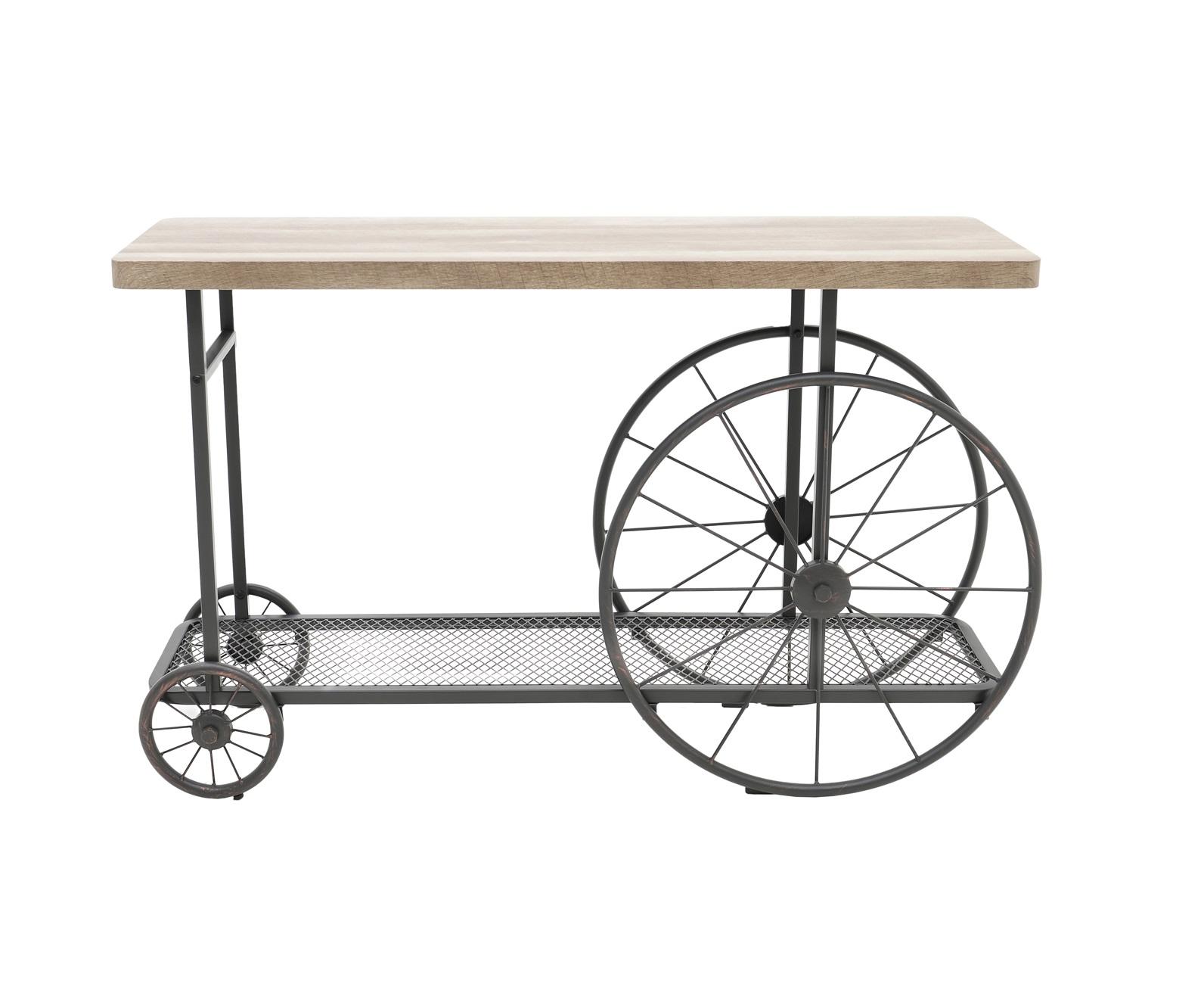 Консольный столик на колесах