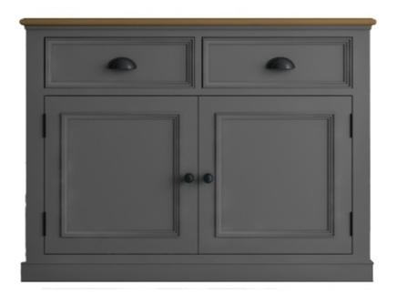 Низкий буфет palermo (etg-home) серый 106x79x47 см.