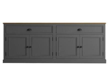 Низкий буфет palermo (etg-home) серый 200x79x47 см.