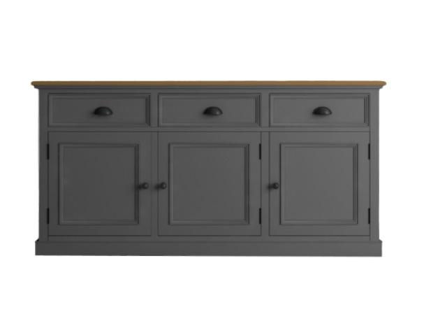 Купить со скидкой Низкий буфет palermo (etg-home) серый 156x79x47 см.