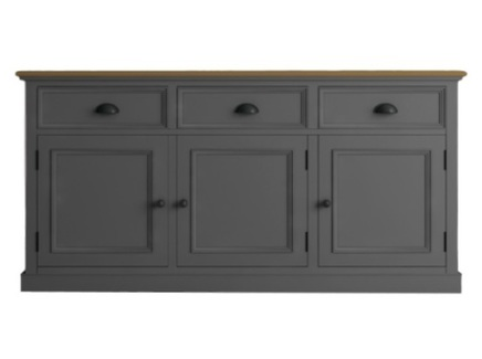 Низкий буфет palermo (etg-home) серый 156x79x47 см.