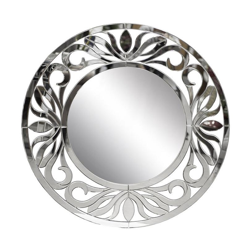 ЗеркалоНастенные зеркала<br>Это зеркало ? прекрасный &amp;quot;цветок&amp;quot;, вместо сердцевины имеющий отражающую поверхность. &amp;quot;Распустившись&amp;quot; у вас в холле, ванной или гостиной, он сможет наполнить атмосферу пространства романтизмом и утонченностью. Не простыми и легкомысленными, а изящными, исполненными в лучших традициях французского прованского стиля. Отражая обстановку в превосходных резных &amp;quot;лепестках&amp;quot;, он добавит элегантность любому окружению.<br><br>Material: Стекло