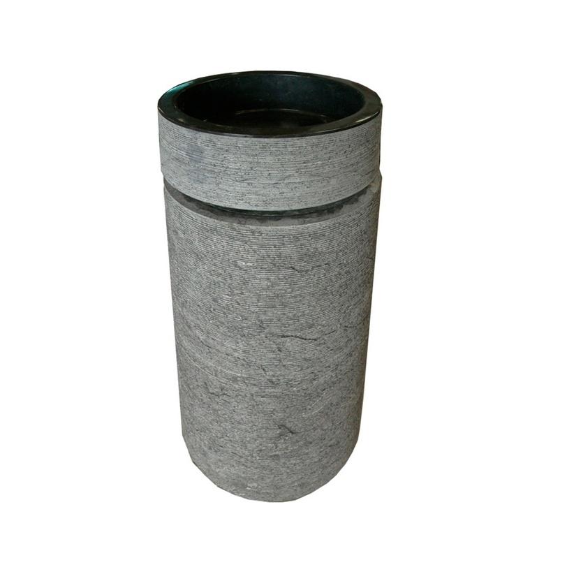 Раковина Toba сераяТумбы для ванной<br><br><br>Material: Камень<br>Length см: None<br>Width см: 40<br>Depth см: 40<br>Height см: 92