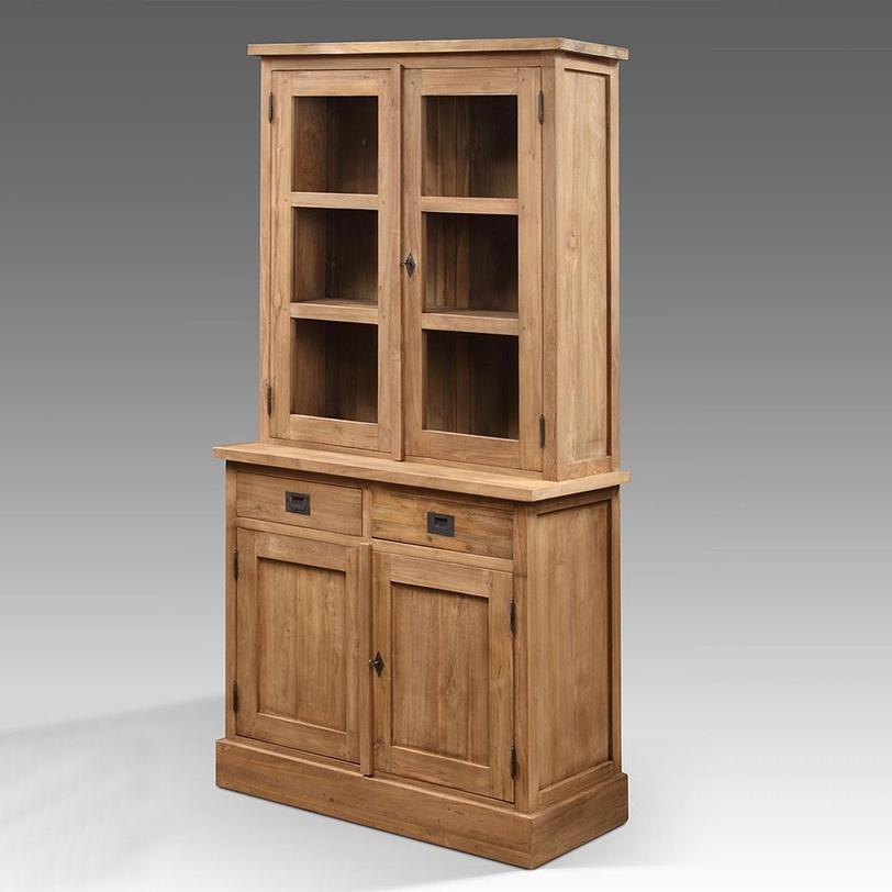 Шкаф NewhallПосудные шкафы<br>Популярный массивный посудный шкаф, богатая фактура натурального тика, стильные раздвижные двери с латунной фурнитурой, функциональные ящики делают его незаменимым в любой столовой или на кухне. Три варианта покрытий - natural,rusticи painted.<br><br>Material: Тик<br>Length см: None<br>Width см: 100.0<br>Depth см: 50.0<br>Height см: 200.0<br>Diameter см: None