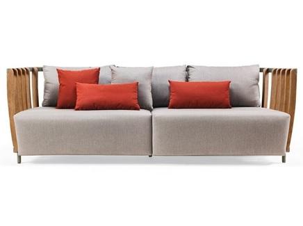 Диван трехместный swing (ethimo) серый 235x77x85 см.